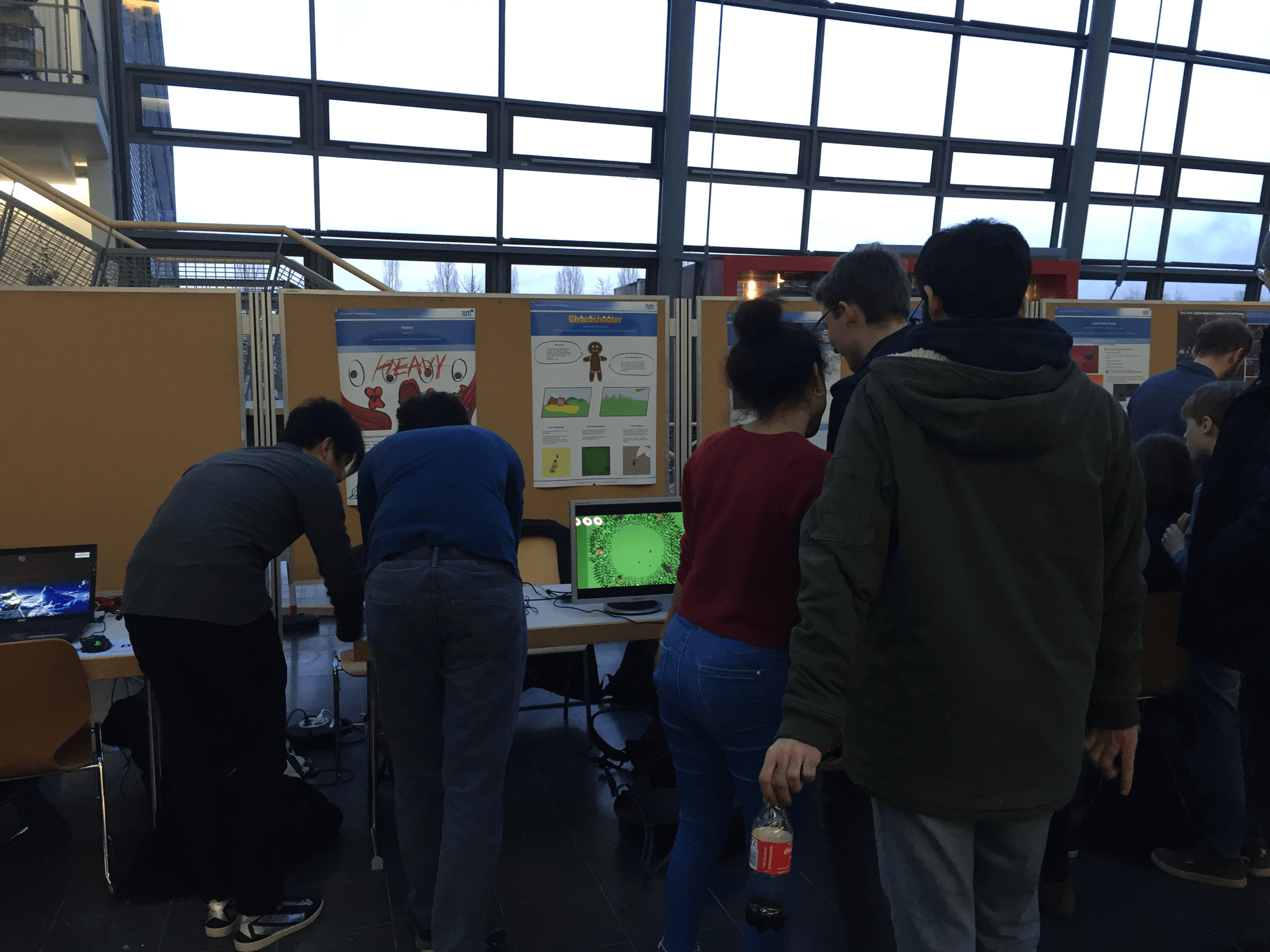 Demo booth with our game chocoshooter