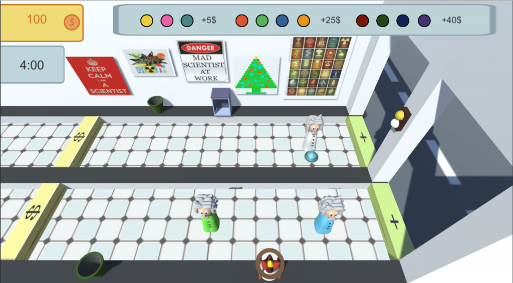 A screenshot of the game LabDay with three players