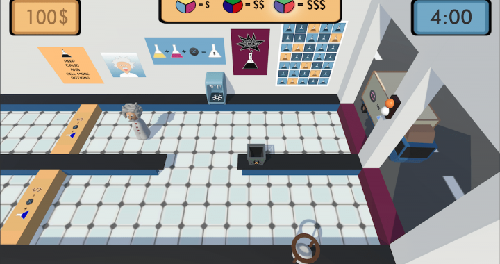 Screenshot of the LabDay Scene